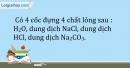 Bài 26.6* Trang 32 SBT Hóa học 9