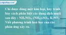 Bài 8.11 trang 13 SBT hóa học 11