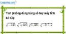 Bài 88 trang 20 SBT toán 9 tập 1
