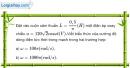 Bài 13.12 trang 38 SBT Vật Lí 12
