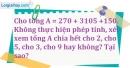 Bài 207 trang 32 SBT toán 6 tập 1