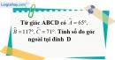 Bài 5 trang 80 SBT toán 8 tập 1