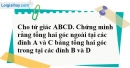 Bài 7 trang 80 SBT toán 8 tập 1