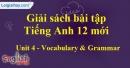 Vocabulary & Grammar - trang 27 Unit 4 SBT Tiếng anh 12 mới