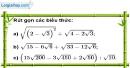 Bài 100 trang 22 SBT toán 9 tập 1