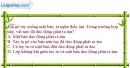 Bài 10.9 trang 25 SBT Vật lí 7