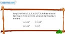 Bài 2.9 trang 73 SBT đại số và giải tích 11