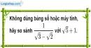 Bài 1.1 phần bài tập bổ sung trang 23 SBT toán 9 tập 1