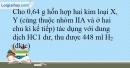Bài 10.4 trang 25 SBT Hóa học 10
