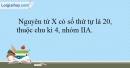 Bài 10.5 trang 25 SBT Hóa học 10