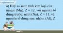 Bài 10.7 trang 25 SBT Hóa học 10