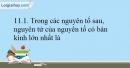 Bài 11.1; 11.2; 11.3; 11.4; 11.5 trang 26 SBT Hóa học 10