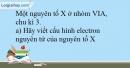 Bài 11.13 trang 28 SBT Hóa học 10