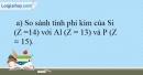 Bài 11.15 trang 28 SBT Hóa học 10