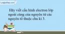 Bài 11.9 trang 28 SBT Hóa học 10