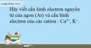 Bài 12.17 trang 31 SBT Hóa học 10