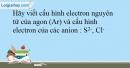 Bài 12.18 trang 31 SBT Hóa học 10