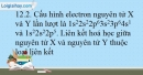 Bài 12.1; 12.2; 12.3; 12.4; 12.5 trang 29 SBT Hóa học 10