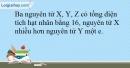 Bài 12.22 trang 31 SBT Hóa học 10