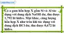 Bài 17.6 trang 25 SBT hóa học 11