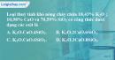 Bài 18.1, 18.2 trang 26 SBT hóa học 11