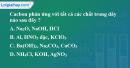 Bài 19.1, 19.2 trang 26 SBT hóa học 11