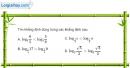 Bài 2.18 trang 109 SBT giải tích 12