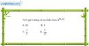 Bài 2.22 trang 110 SBT giải tích 12