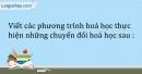 Bài 29.5 Trang 37 SBT Hóa học 9
