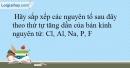 Bài 9.15 trang 23 SBT Hóa học 10