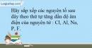 Bài 9.16 trang 23 SBT Hóa học 10