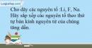 Bài 9.21 trang 24 SBT Hóa học 10