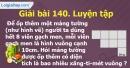 Bài 140 : Luyện tập