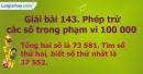 Bài 143 : Phép trừ các số trong phạm vi 100 000