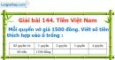 Bài 144 : Tiền Việt Nam