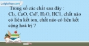 Bài 13.23 trang 34 SBT Hóa học 10