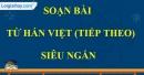 Từ Hán Việt (tiếp theo)