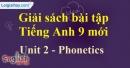 Phonetics - trang 11 - Unit 2 - SBT tiếng anh lớp 9 mới