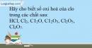 Bài 15.15 trang 37 SBT Hóa học 10