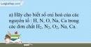 Bài 15.13 trang 37 SBT Hóa học 10