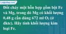 Bài 24.19 trang 34 SBT hóa học 8