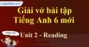Reading - Trang 14 Unit 2 VBT tiếng anh 6 mới