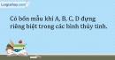 Bài 32.3 Trang 40 SBT Hóa học 9