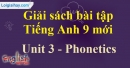 Phonetics - Unit 3 – SBT tiếng Anh 9 mới