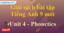 Phonetics - trang 31 - Unit 4 - SBT tiếng Anh 9 mới
