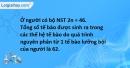 Bài 5 trang 25 SBT Sinh học 9