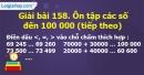 Bài 158 : Ôn tập các số đến 100 000 (tiếp theo)