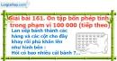 Bài 161 : Ôn tập bốn phép tính trong phạm vi 100 000 (tiếp theo)
