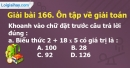 Bài 166 : Ôn tập về giải toán (tiếp theo)