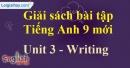 Writing - trang 26 - Unit 3 - SBT tiếng Anh 9 mới